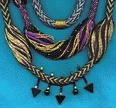 [tubular warp twined necklaces]